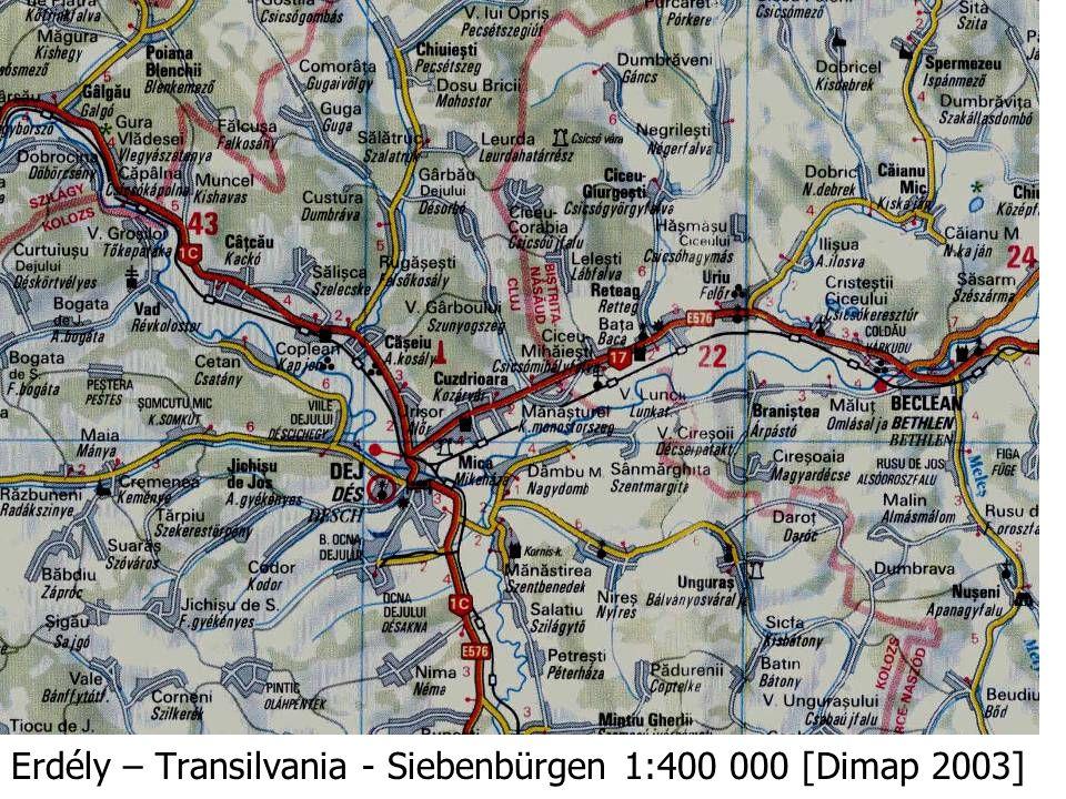 Erdély – Transilvania - Siebenbürgen 1:400 000 [Dimap 2003]
